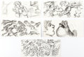 Animation Art:Production Drawing, The Black Cauldron Storyboard Art and Photo Print Group of 8(Walt Disney, 1985).... (Total: 8 Items)