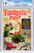 Silver Age (1956-1969):Superhero, Fantastic Four #1 (Marvel, 1961) CGC GD- 1.8 Off-white to whitepages....