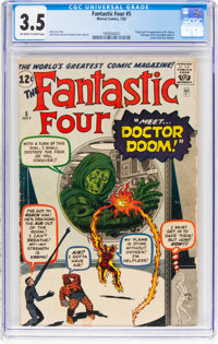Fantastic Four #5 (Marvel, 1962) CGC VG- 3.5 Off-white to white pages