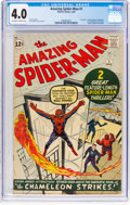 Silver Age (1956-1969):Superhero, The Amazing Spider-Man #1 (Marvel, 1963) CGC VG 4.0 Off-white to white pages....