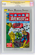 Modern Age (1980-Present):Superhero, Marvel Milestone Edition: Avengers #1 Signature Series (Marvel, 1993) CGC NM/MT 9.8 White pages....
