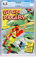 Golden Age (1938-1955):Adventure, Buck Rogers #4 (Eastern Color, 1942) CGC FN+ 6.5 Cream to off-white pages....