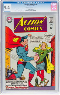 Action Comics #354 (DC, 1967) CGC NM 9.4 Off-white to white pages