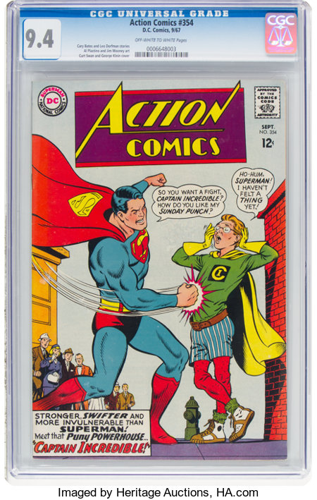 Action Comics #354 (DC, 1967) CGC NM 9.4 Off-white to white pages....