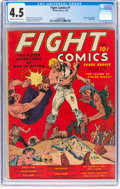 Golden Age (1938-1955):Miscellaneous, Fight Comics #1 (Fiction House, 1940) CGC VG+ 4.5 Cream to off-white pages....