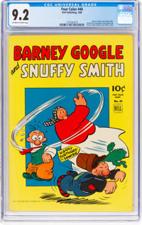 Four Color #40 Barney Google and Snuffy Smith (Dell, 1944) CGC NM- 9.2 Off-white to white pages