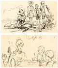 Animation Art:Production Drawing, Bedknobs and Broomsticks Storyboard Drawings Group of 5(Walt Disney, 1971).... (Total: 5 Original Art)