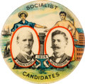 Political:Pinback Buttons (1896-present), Debs & Hanford: Workers-at-the-Ballot Box Jugate....