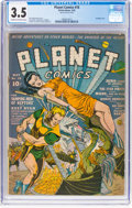 Golden Age (1938-1955):Science Fiction, Planet Comics #18 (Fiction House, 1942) CGC VG- 3.5 Cream to off-white pages....