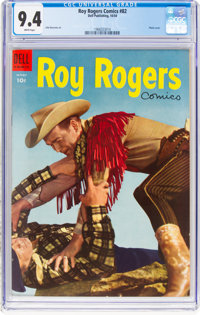 Roy Rogers Comics #82 (Dell, 1954) CGC NM 9.4 White pages
