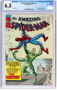 The Amazing Spider-Man #20 (Marvel, 1965) CGC FN+ 6.5 White pages