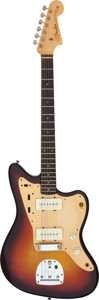 Musical Instruments:Electric Guitars, 1958 Fender Jazzmaster Sunburst Solid Body Electric Guitar, Serial# 33386.. ...