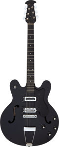 Musical Instruments:Electric Guitars, Circa 1980's Ovation 1235-5 Black Semi-Hollow Body Electric Guitar, Serial # H-686.. ...