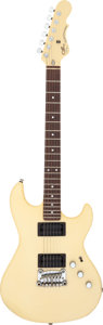 Musical Instruments, G & L Superhawk White Solid Body Electric Guitar, Serial #G022752....