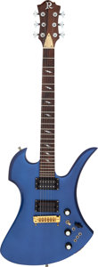 Musical Instruments:Electric Guitars, 1981 B. C. Rich Mockingbird Blue Solid Body Electric Guitar, Serial # HAHAHA #4....