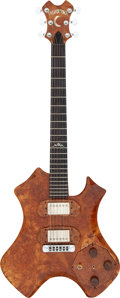 Musical Instruments:Electric Guitars, Moonstone Earth Axe Natural Solid Body Electric Guitar....