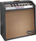 Musical Instruments:Amplifiers, PA, & Effects, Circa 1961 Epiphone Zephyr Gray Guitar Amplifier, Serial # 820372....