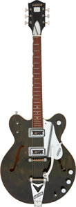 Musical Instruments:Electric Guitars, 1966 Gretsch Rally 6104 Green-Stain Semi-Hollow Body Electric Guitar, Serial # 59232.. ...