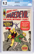 Silver Age (1956-1969):Superhero, Daredevil #4 (Marvel, 1964) CGC NM- 9.2 Off-white to white pages....