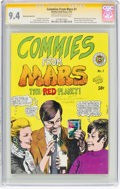 Bronze Age (1970-1979):Alternative/Underground, Commies From Mars #1 First Printing - Signature Series - Manufacturing Error (Kitchen Sink, 1973) CGC NM 9.4 Off-white to whit...