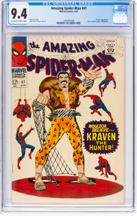 The Amazing Spider-Man #47 (Marvel, 1967) CGC NM 9.4 Off-white to white pages