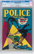 Golden Age (1938-1955):Crime, Police Comics #27 Cosmic Aeroplane Pedigree (Quality, 1944) CGC VF 8.0 Cream to off-white pages....