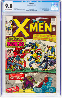 X-Men #9 (Marvel, 1965) CGC VF/NM 9.0 Off-white to white pages