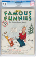 Platinum Age (1897-1937):Miscellaneous, Famous Funnies #32 (Eastern Color, 1937) CGC VF- 7.5 Tan tooff-white pages....