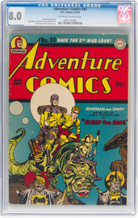 Adventure Comics #93 (DC, 1944) CGC VF 8.0 Off-white to white pages