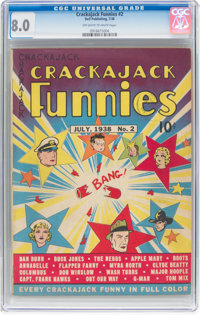 Crackajack Funnies #2 (Dell, 1938) CGC VF 8.0 Off-white to white pages