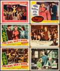 """Movie Posters:Comedy, The Girl Next Door & Other Lot (20th Century Fox, 1953) Fine/Very Fine. Lobby Cards (6) (11"""" X 14""""). Comedy.... (Total: 6 Items)"""