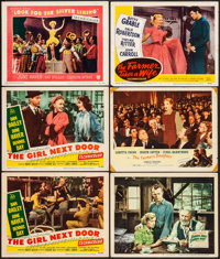 """The Girl Next Door & Other Lot (20th Century Fox, 1953) Fine/Very Fine. Lobby Cards (6) (11"""" X 14""""). Comed..."""