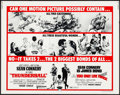 """Movie Posters:James Bond, Thunderball/You Only Live Twice Combo (United Artists, R-1971). Rolled, Very Fine-. Half Sheet (22"""" X 28""""). James Bond...."""
