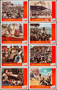 """The Ten Commandments (Paramount, R-1966). Overall: Very Fine-. Lobby Card Set of 8 (11"""" X 14""""). Drama.... (Tot..."""