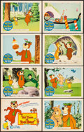"Movie Posters:Animation, Hey There, It's Yogi Bear (Columbia, 1964). Fine/Very Fine. Lobby Card Set of 8 (11"" X 14""). Animation.... (Total: 8 Items)"