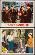 """Movie Posters:Comedy, Three Guys Named Mike & Other Lot (MGM, 1951) Very Fine-. Autographed Lobby Cards (2) (11"""" X 14""""). Comedy.... (Total: 2 Items)"""