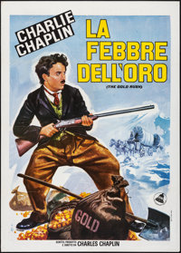 "The Gold Rush (Dear International, R-1956) Folded, Very Fine. Italian 2 - Fogli (39.25"" X 55"") Luca Crovato Ar..."