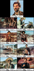 """Movie Posters:Western, The Good, the Bad and the Ugly (United Artists, 1968) Fine/Very Fine. French Lobby Card Set of 9 (11"""" X 14""""). Western.... (Total: 10 Items)"""