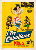 "Movie Posters:Animation, The Three Caballeros (Rome International, R-1959) Folded, Very Fine. Italian 2 - Fogli (39"" X 55"") Adelchi Serafini Artwork...."