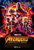 """Movie Posters:Action, Avengers: Infinity War (Walt Disney Pictures, 2018) Rolled, Very Fine+. One Sheet (27"""" X 40"""") DS, Advance. Action...."""