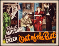 """Movie Posters:Film Noir, Out of the Past (RKO, 1947) Folded, Fine/Very Fine. Lobby Card (11"""" X 14""""). William Rose Border Artwork. Film Noir...."""