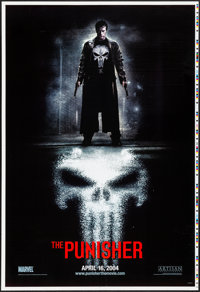 """The Punisher (Lions Gate, 2004) Rolled, Very Fine-. Printer's Proof One Sheet (28"""" X 41"""") SS, Advance. Action..."""