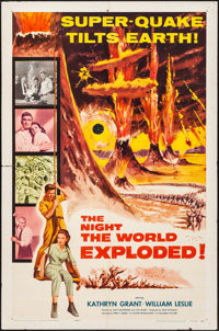 """The Night the World Exploded! & Other Lot (Columbia, 1957). Folded, Fine/Very Fine. One Sheets (6) (27"""" X 41&qu..."""