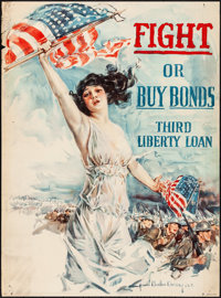 World War I Propaganda by Howard Chandler Christy (Forbes, 1918) Rolled, Fine+. Third Liberty Loan Poster Poster (30&quo...