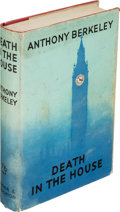 Books:Mystery & Detective Fiction, Anthony Berkeley. Death in the House. London: Hodder andStoughton, 1939. First edition....