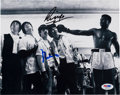 Music Memorabilia:Autographs and Signed Items, The Beatles and Muhammad Ali Signed Photograph (1964). ...