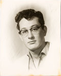Music Memorabilia:Photos, Buddy Holly Early Photographic Portrait....