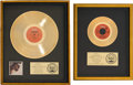 """Music Memorabilia:Awards, Isley Brothers - Two RIAA Gold Record Awards for The Heat is On and """"Fight the Power - Part 1"""" (T-Neck, 1975).... (Total: 2 Items)"""