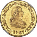Colombia, Colombia: Charles III gold 2 Escudos 1767 PN-J AU58 NGC,...