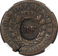 French Colonies: French Colonies. Louis XV Counterstamped Sou (12 Deniers) 1767-A VF20 Brown NGC